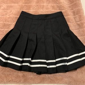 Pleated cheerleading skirt